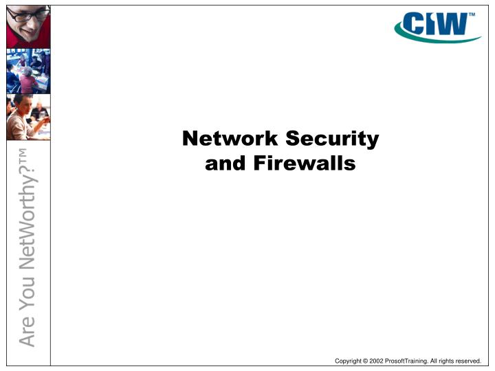 network security and firewalls n.