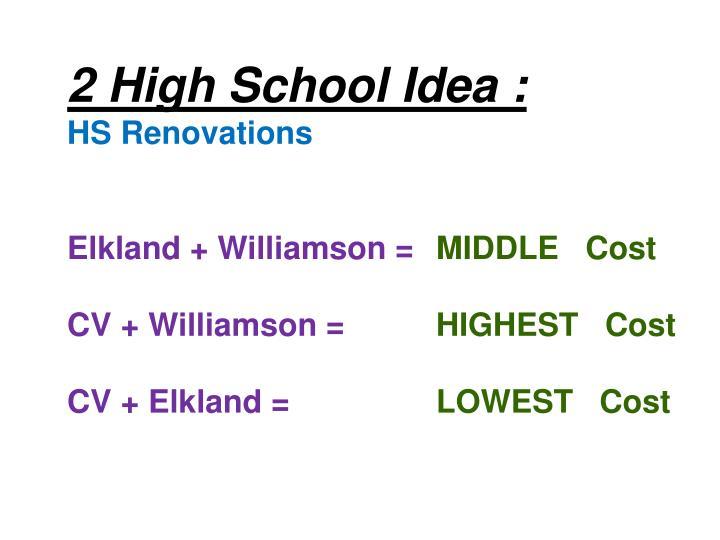 2 High School Idea :