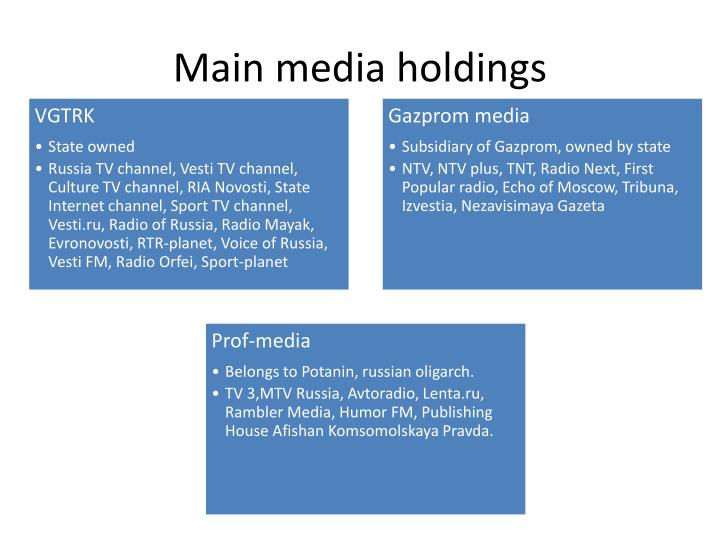 Main media holdings