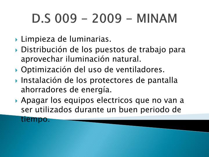 D.S 009 - 2009 - MINAM