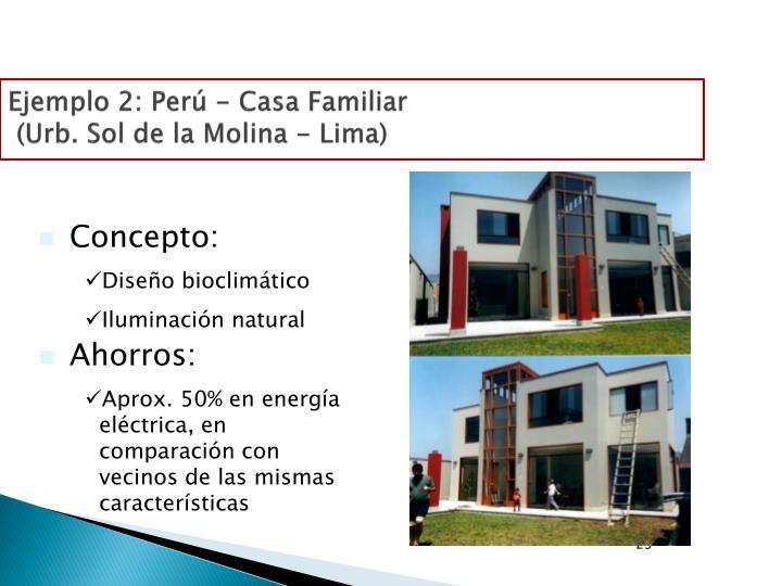 Ejemplo 2: Perú - Casa Familiar