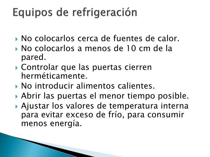 Equipos de refrigeración