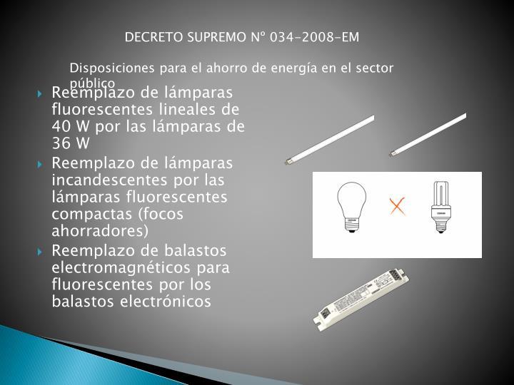 DECRETO SUPREMO Nº 034-2008-EM