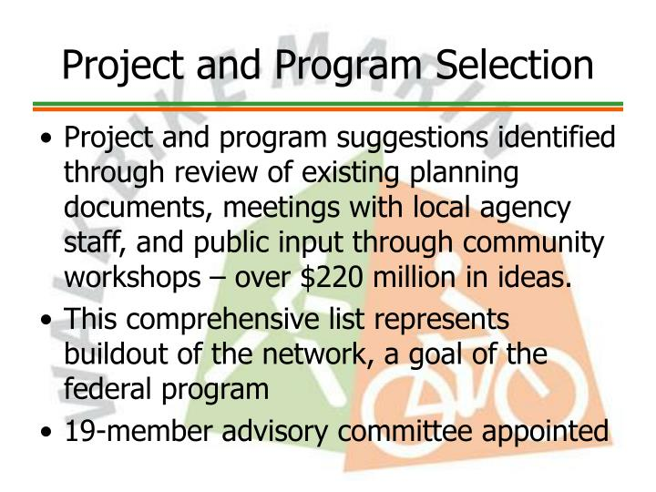 Project and Program Selection