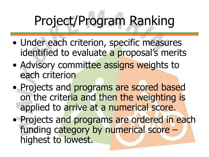 Project/Program Ranking
