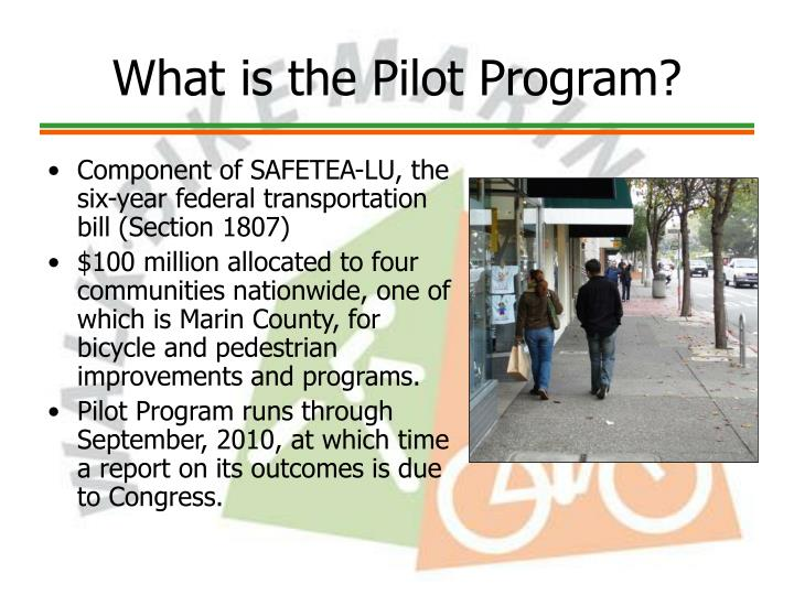 What is the pilot program