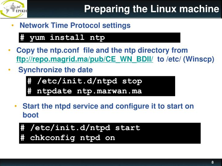 Preparing the Linux machine