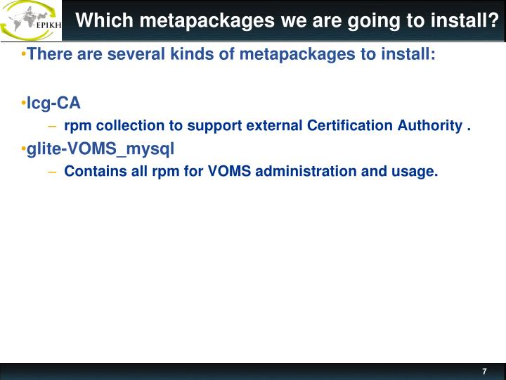 Which metapackages we are going to install?