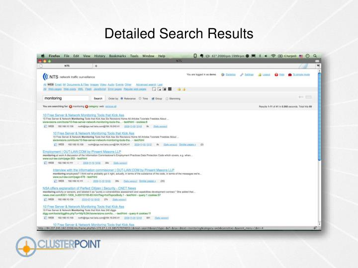 Detailed Search Results