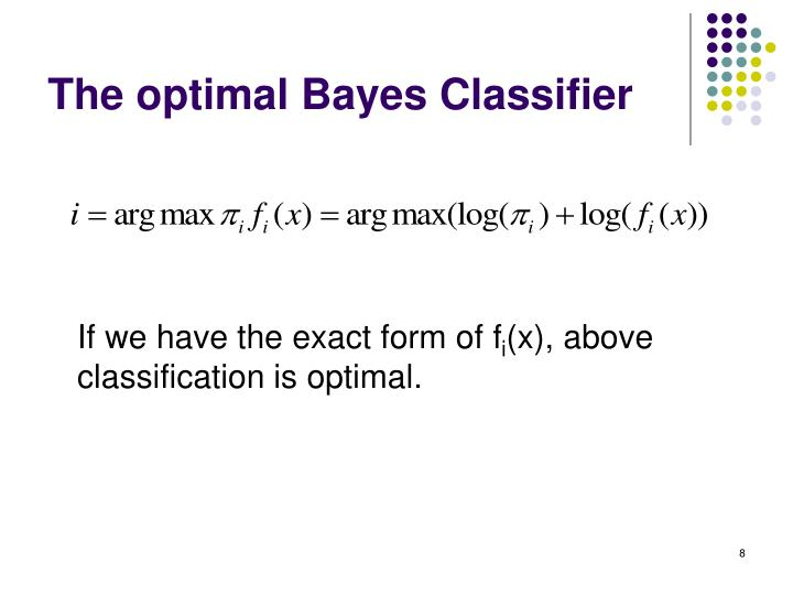 The optimal Bayes Classifier
