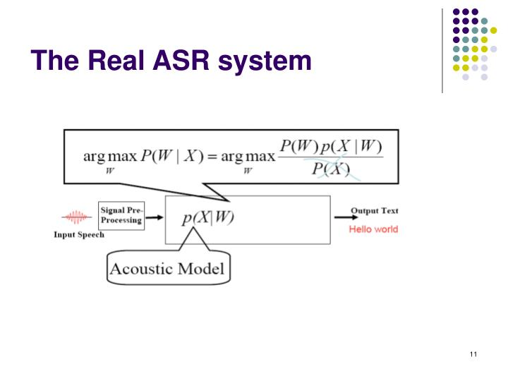 The Real ASR system