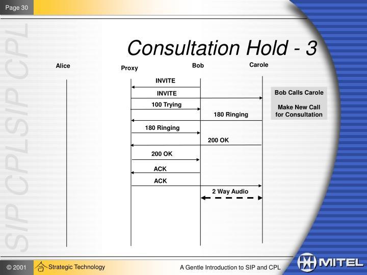 Consultation Hold - 3