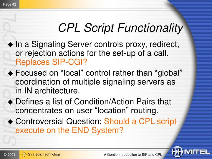 CPL Script Functionality