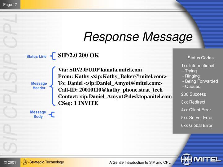 Response Message