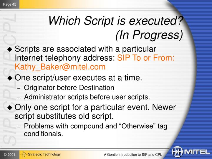 Which Script is executed?
