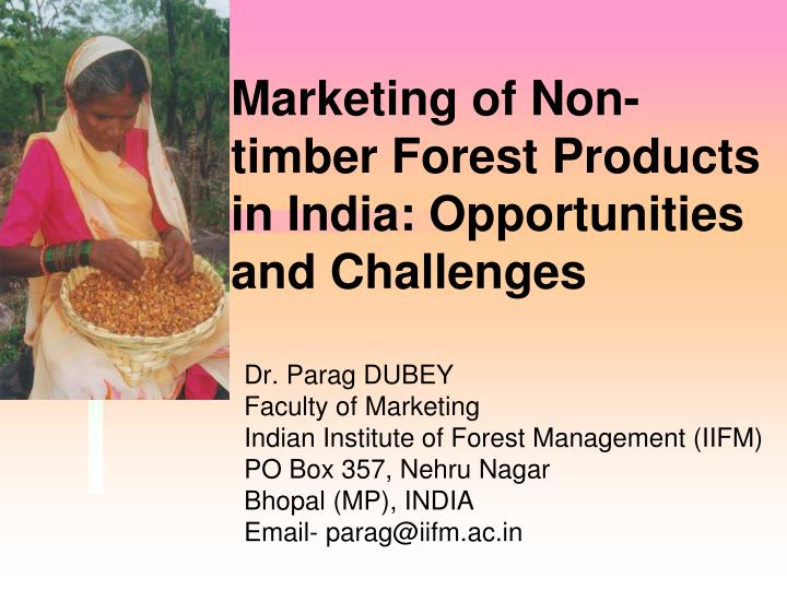 marketing of non timber forest products in india opportunities and challenges n.