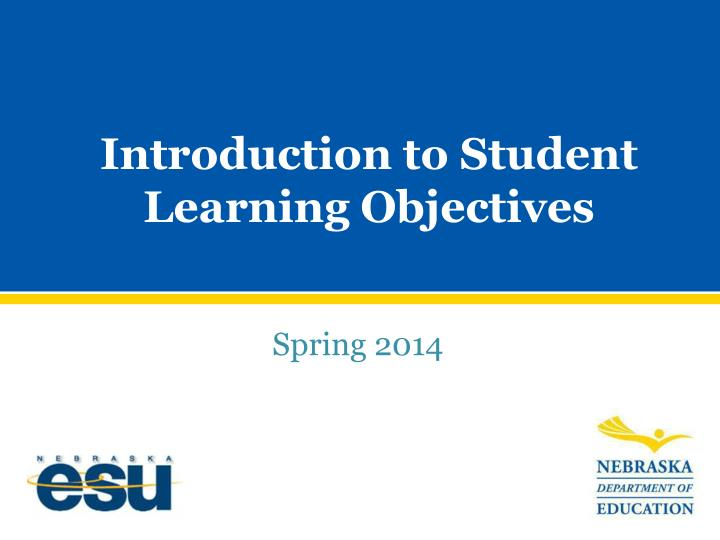 introduction to student learning objectives n.