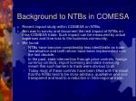 background to ntbs in comesa