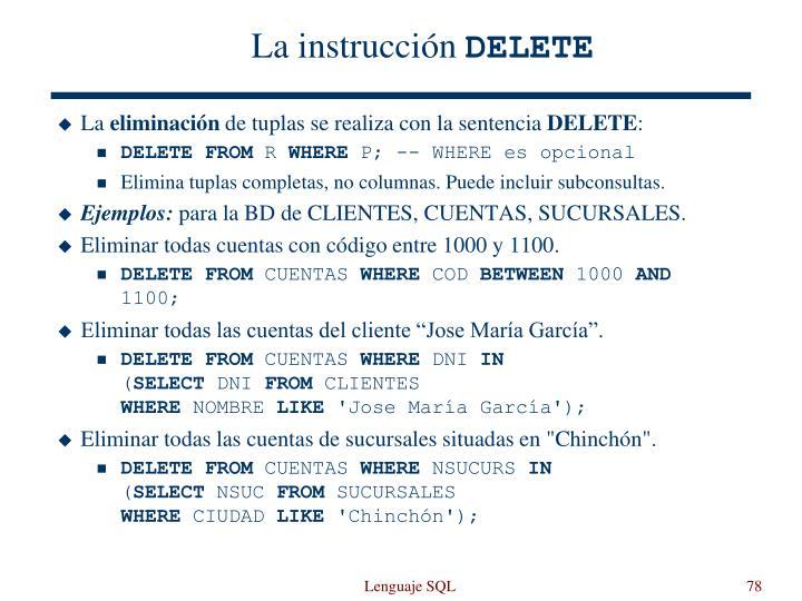 La instrucción