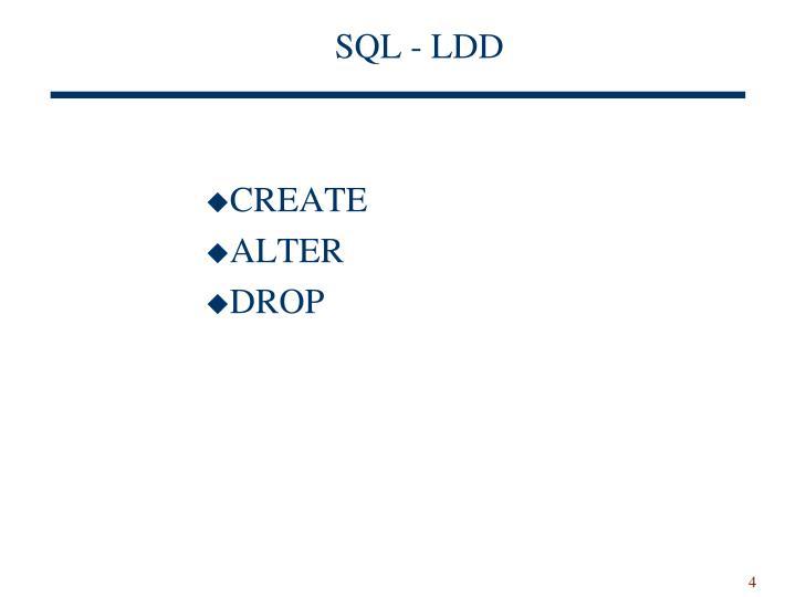 SQL - LDD