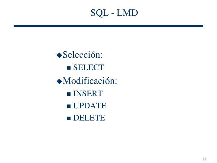 SQL - LMD