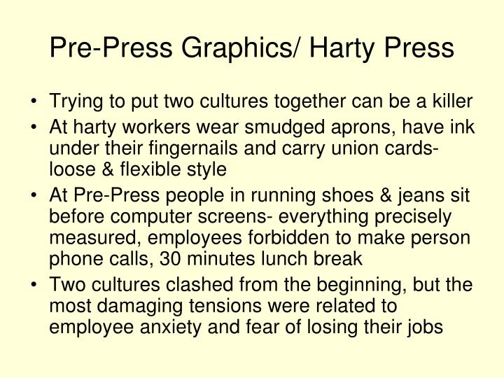 Pre-Press Graphics/ Harty Press