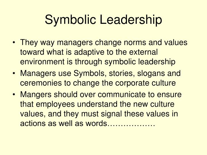 Symbolic Leadership