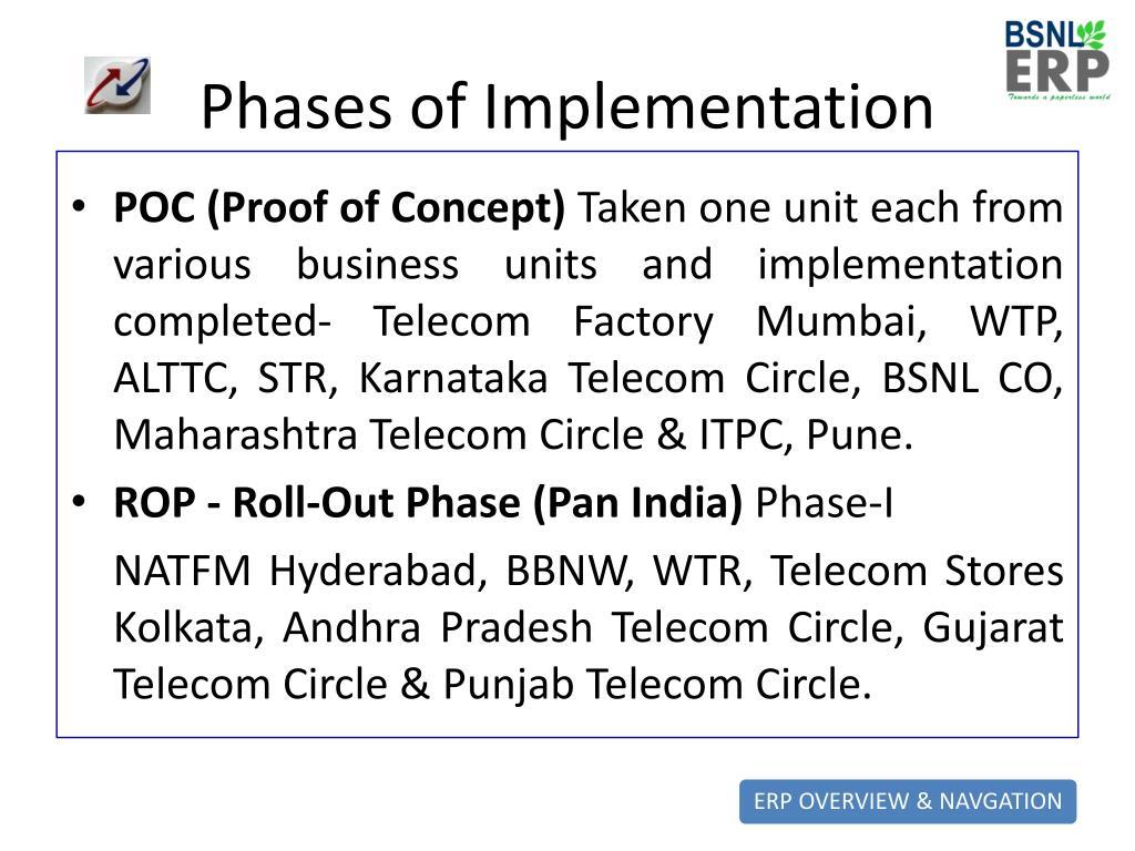 PPT - BSNL ERP Project PowerPoint Presentation - ID:4683846