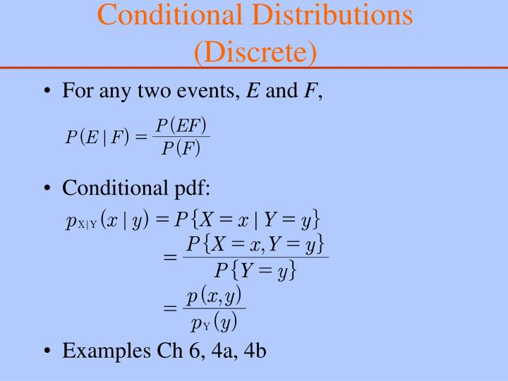 Conditional Distributions (Discrete)