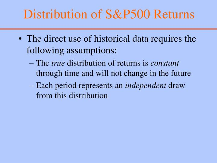 Distribution of S&P500 Returns