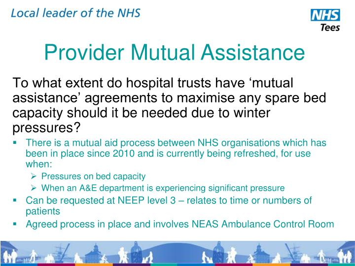 Provider mutual assistance