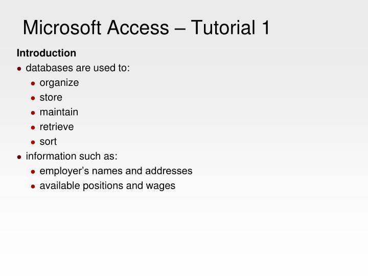 Microsoft access tutorial 12