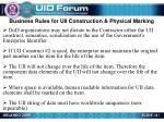 business rules for uii construction physical marking