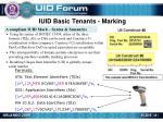 iuid basic tenants marking