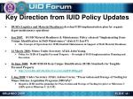 key direction from iuid policy updates1