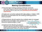 marking considerations
