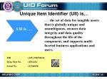 unique item identifier uii is