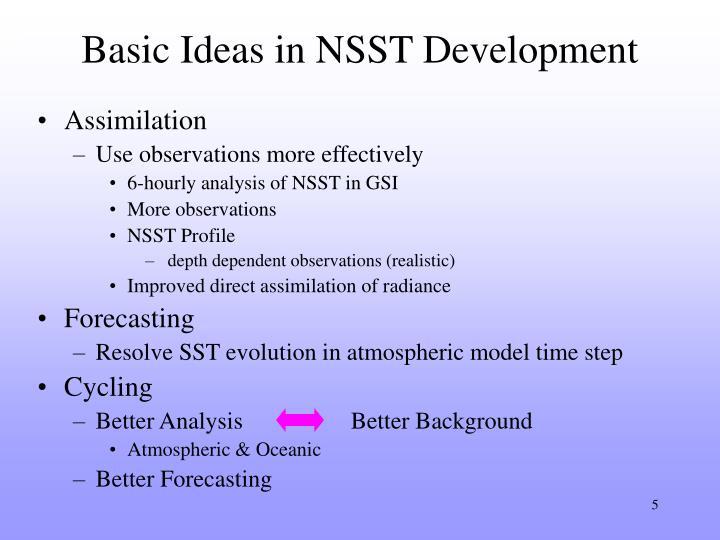 Basic Ideas in NSST Development