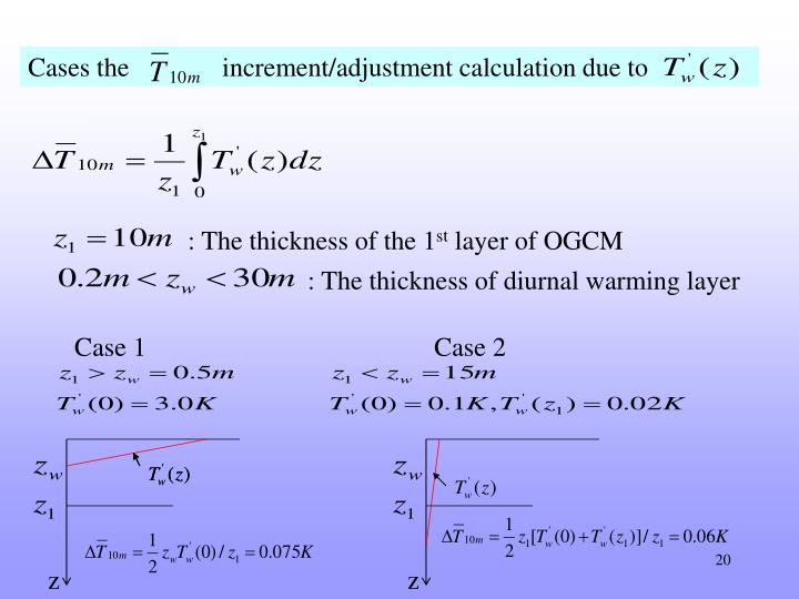 Cases the              increment/adjustment calculation due to