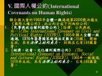 v international covenants on human rights