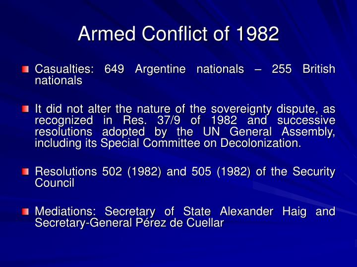 Armed Conflict of 1982