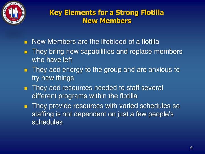 Key Elements for a Strong Flotilla