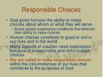 responsible choices