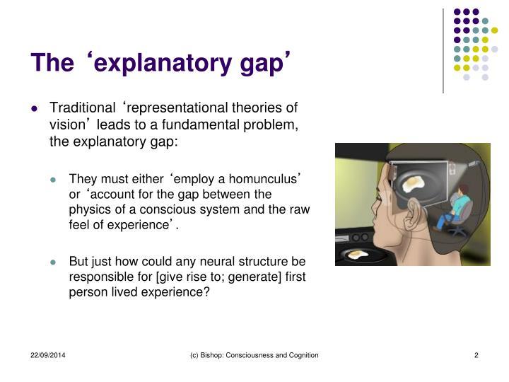The explanatory gap