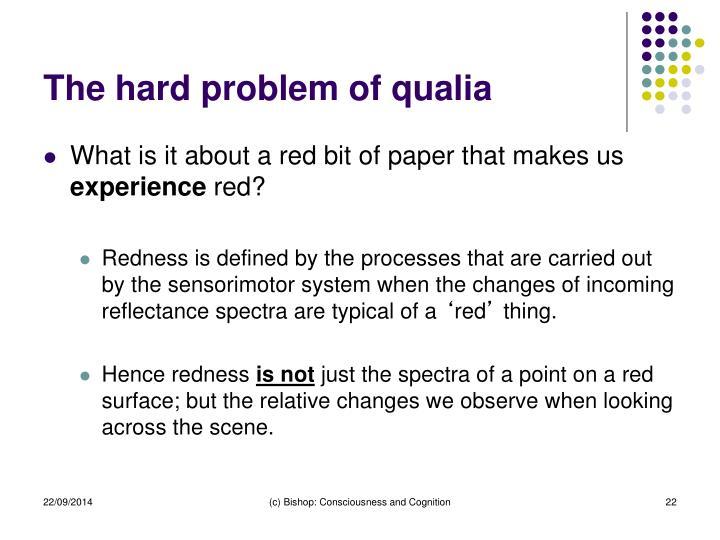 The hard problem of qualia