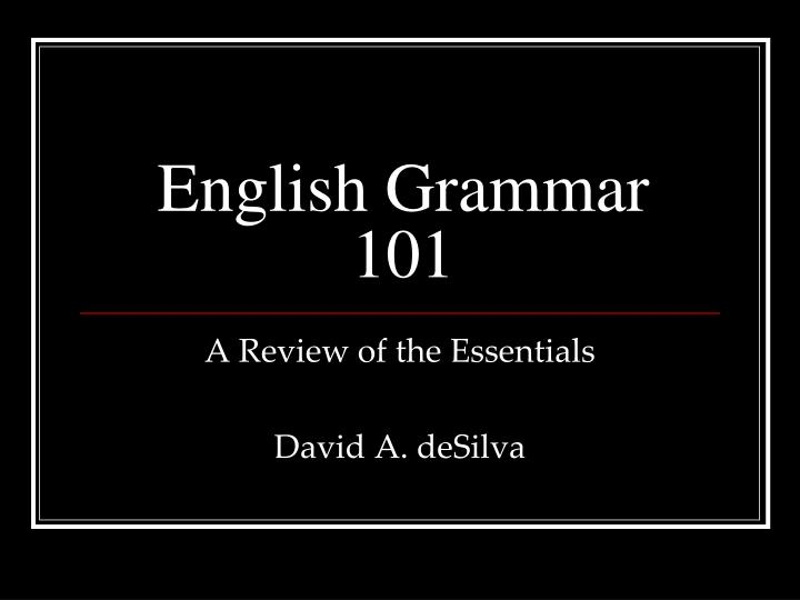 english grammar 101 n.