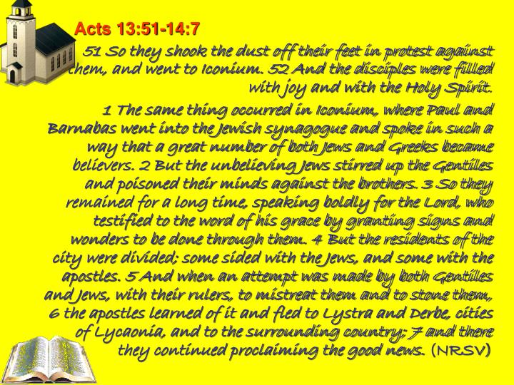 Acts 13:51-14:7