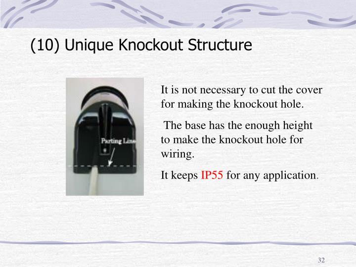 (10) Unique Knockout Structure