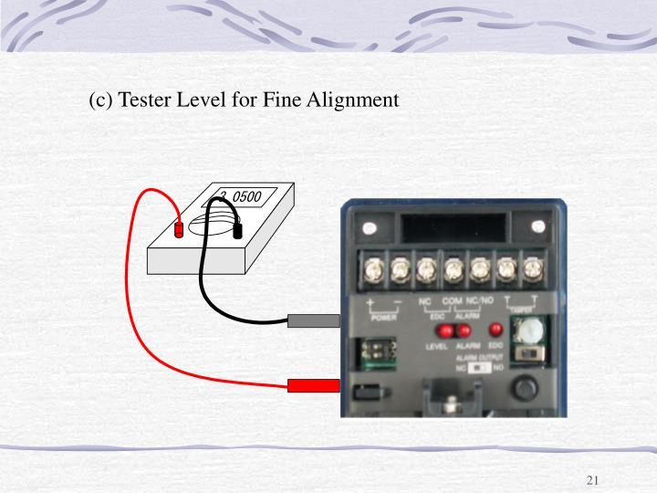 (c) Tester Level for Fine Alignment