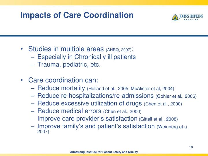 Impacts of Care Coordination